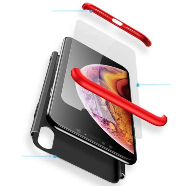 iphone-xs-360-beskyttelsescover-sort-roed-cover