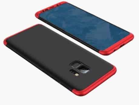 Samsung-galaxy-s9-plus-360-beskyttelsescover-sort-roed