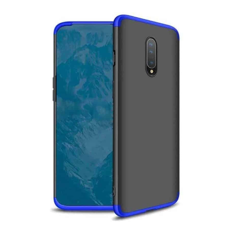 oneplus 7 360 beskyttelsescover sort/blå