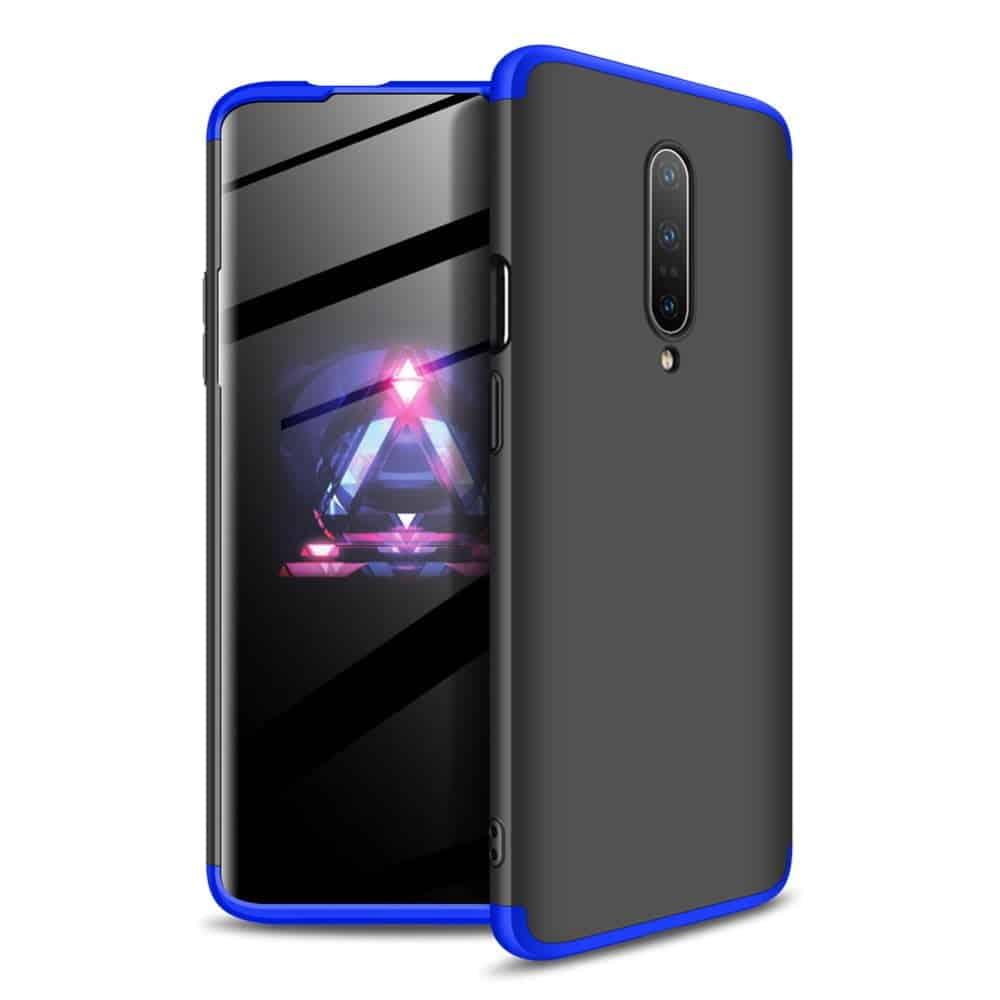 oneplus 7 pro 360 beskyttelsescover sort/blå