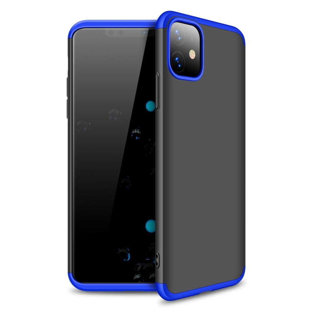 iphone 11 360 beskyttelsescover sort/blå