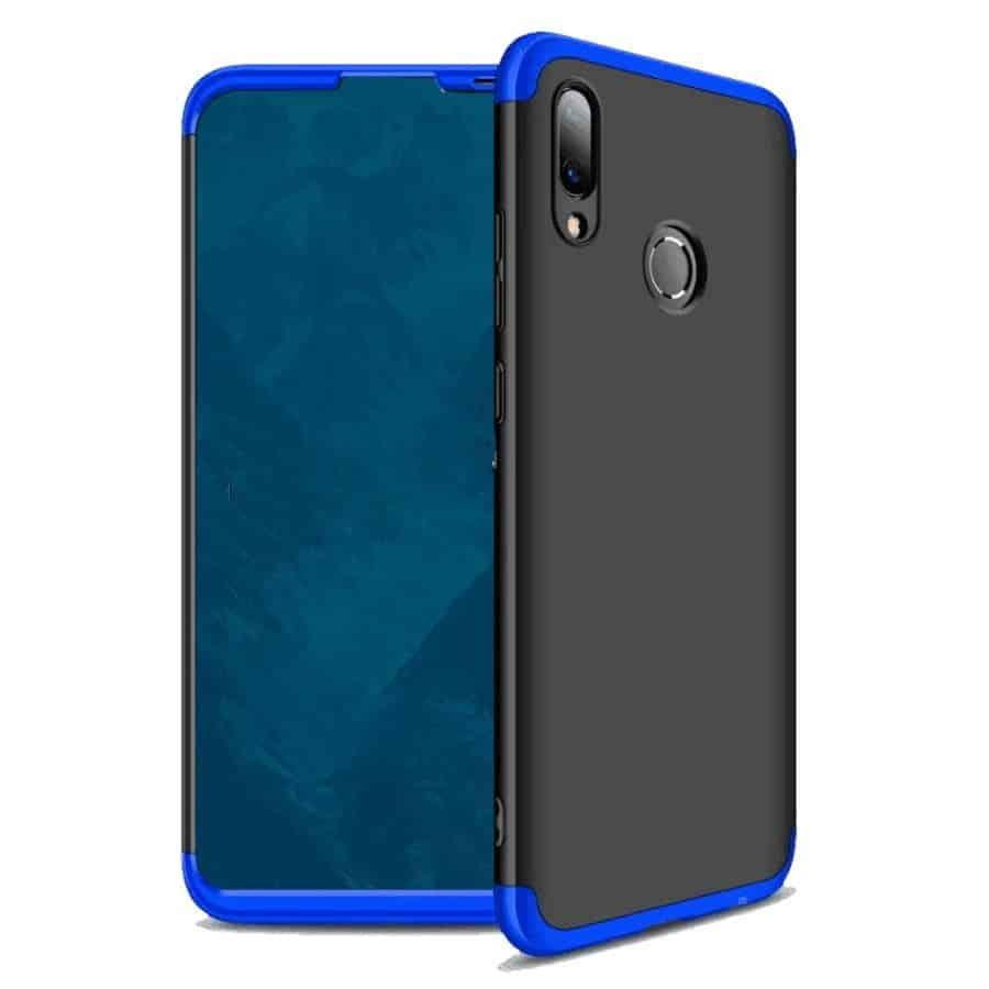 huawei p smart 2019 360 beskyttelsescover sort/blå