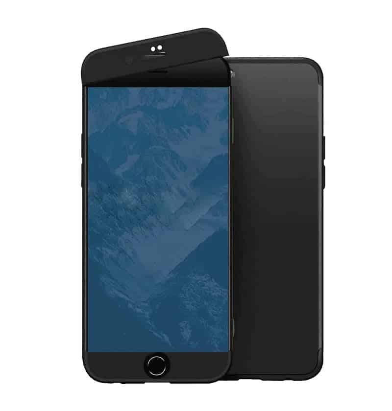iphone se 2020 360 beskyttelsescover sort