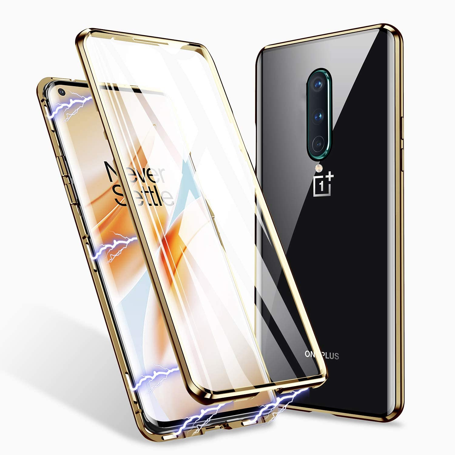 oneplus 8 perfect cover guld