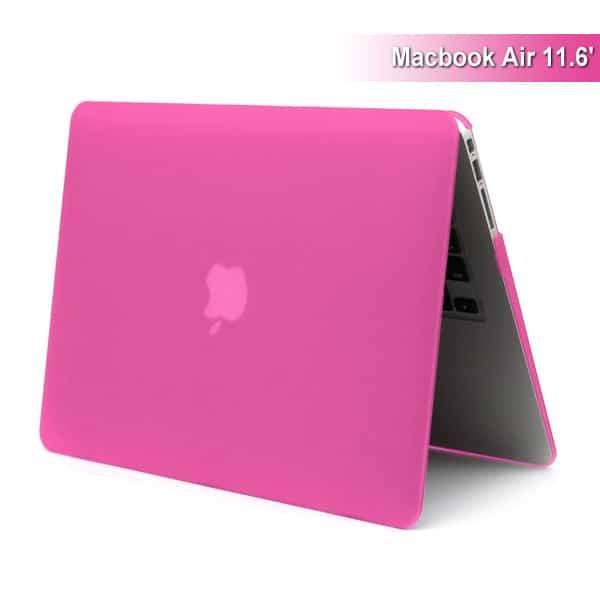 """MacBook Air 11"""" - Mat Hard Etui - Magenta"""