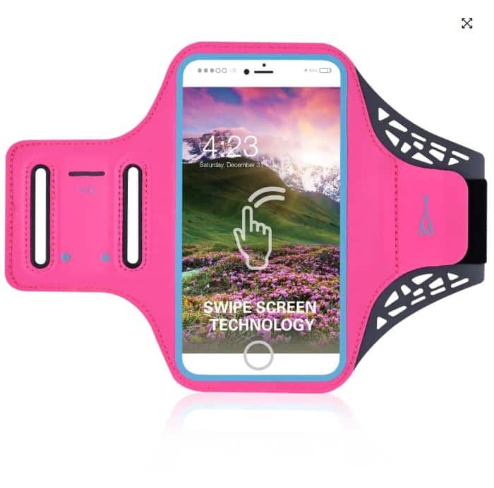 Mobilholder Løb - Neon Pink