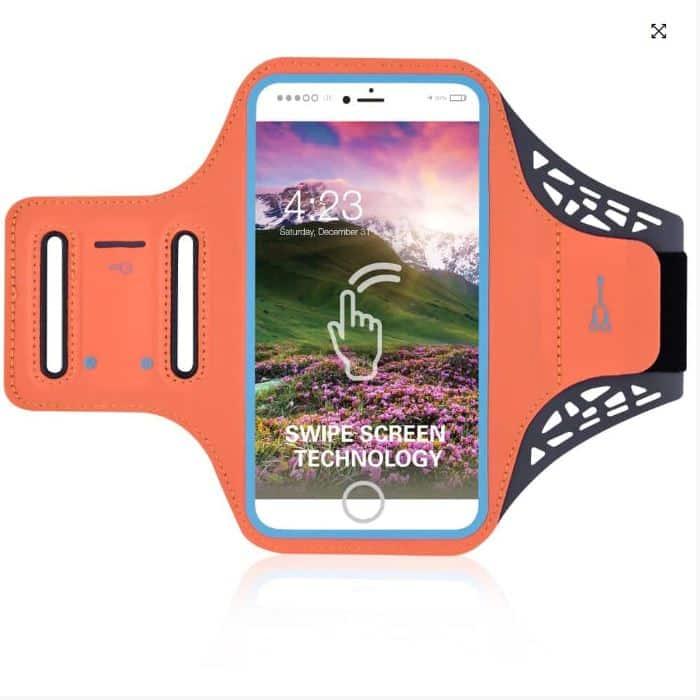 Mobilholder Løb - Neon Orange