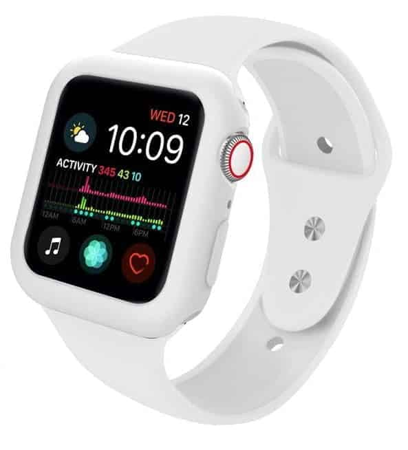 apple watch skærmbeskyttelse full protection hvid 42mm