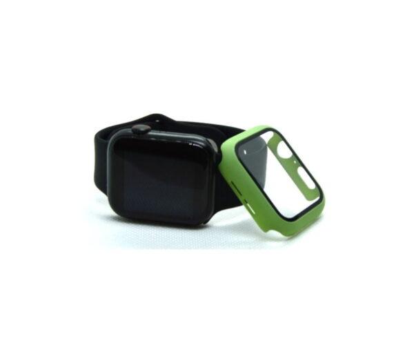 apple-watch-skaermbeskyttelse-full-protection-lysegroen-44mm