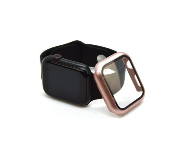 apple watch skærmbeskyttelse full protection rosa guld 44mm
