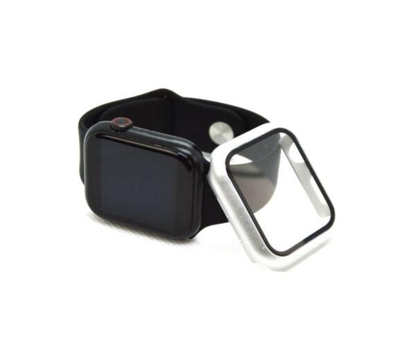 apple-watch-skaermbeskyttelse-full-protection-soelv-44mm