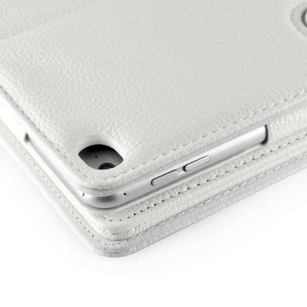 new detachable wireless bluetooth keyboard case lichi pattern leather stand smart cover for ipad pro   white8 1