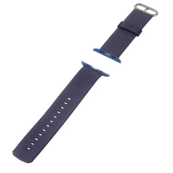 Apple Watch 42mm – Nylon Spænde Armbånd – Mørkeblå