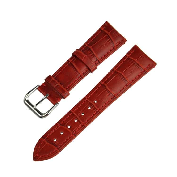 apple watch 42mm - krokodille skin ægte læder armbånd - rød
