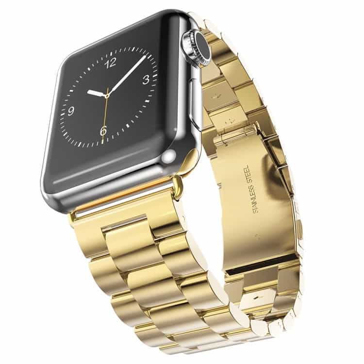 Apple Watch 42mm – HOCO Rustfrit Armbånd – Guldfarve