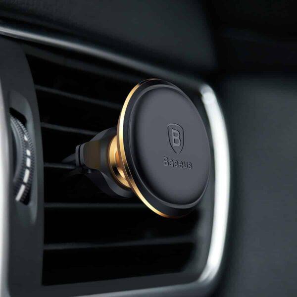 baseus-magnetisk-holder-bil-guld-mobiltelefonholder