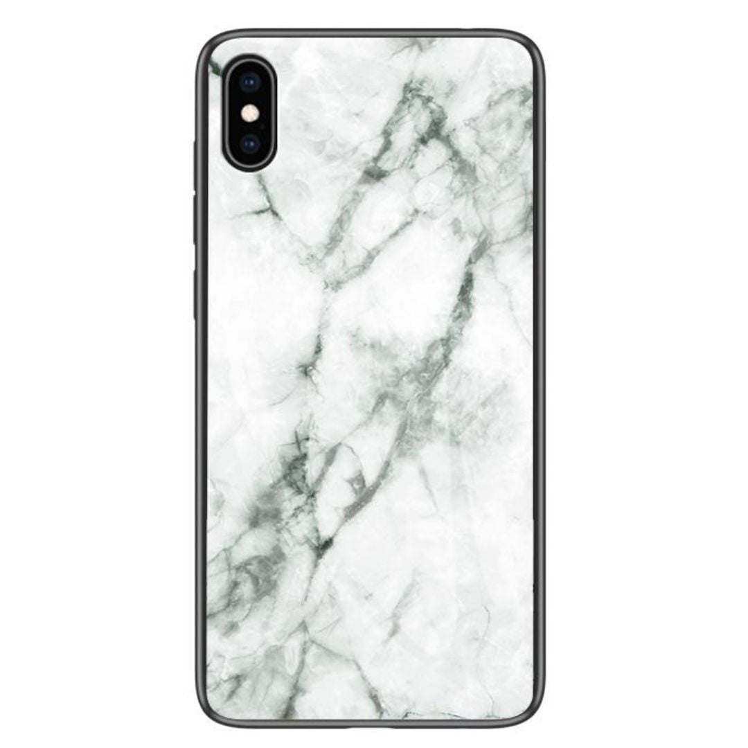iPhone XS Max Cover White Marble