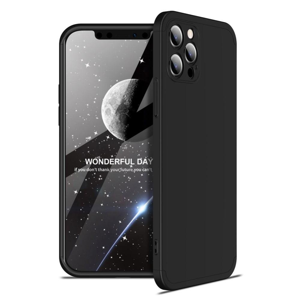 iphone 12 pro 360 beskyttelsescover sort