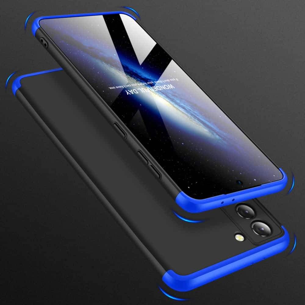 samsung s20 lite 360 beskyttelsescover sort/blå
