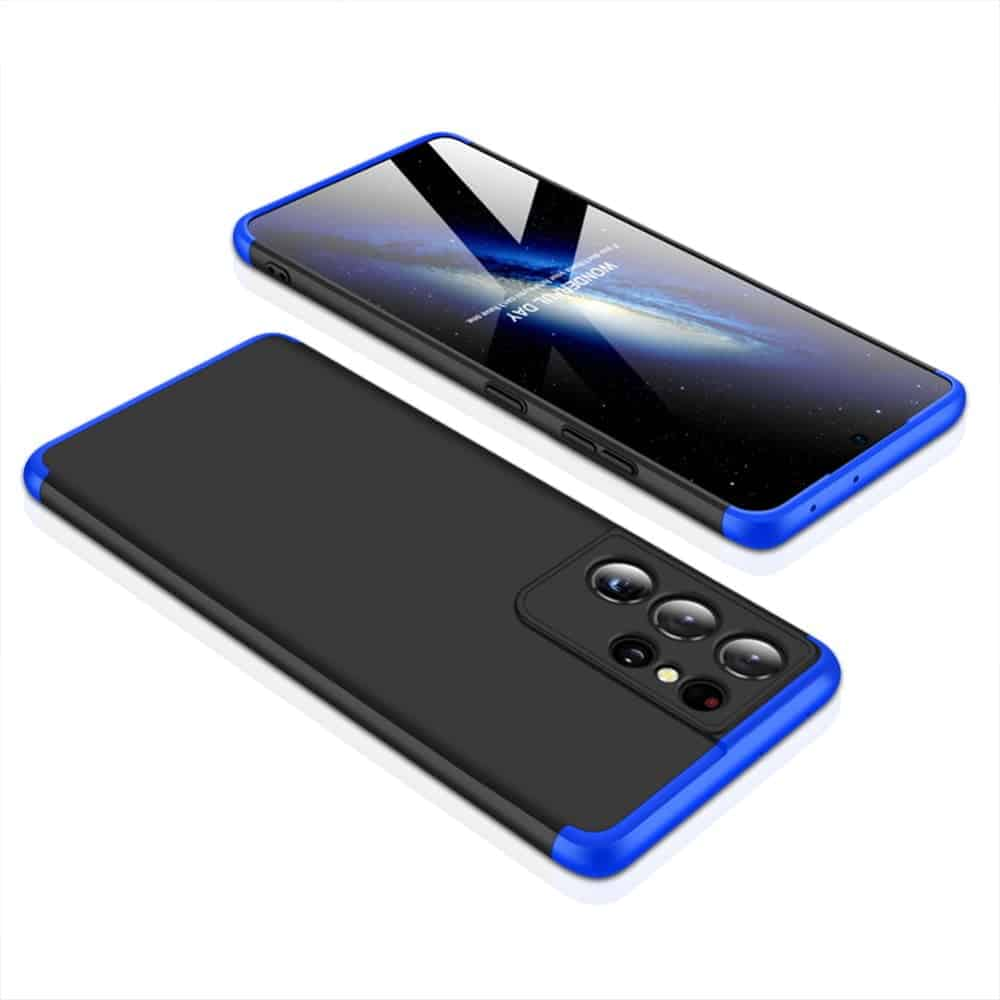 samsung s21 360 beskyttelsescover sort/blå