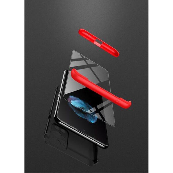 oneplus 9 pro 360 beskyttelsescover sortroed cover mobil cover beskyttelse