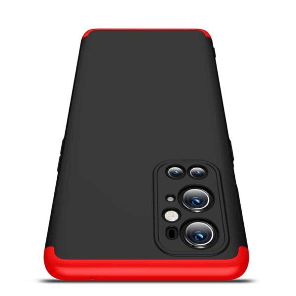 oneplus 9 pro 360 beskyttelsescover sortroed mobilcover