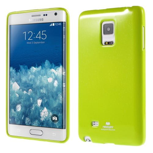 Galaxy Note Edge – Newsets Mercury Glitrende Pulver Tpu Etui – Grøn